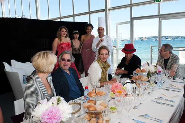 Cannes Jury eating at the Agora