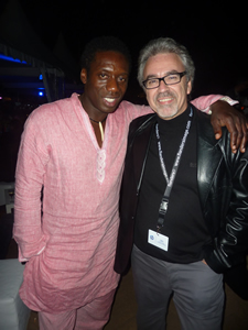 Hakeem Kae–Kazim and Jeremy Nathan at the South African party