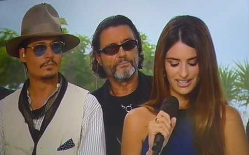 Johnny, Ian and Penelope in Cannes