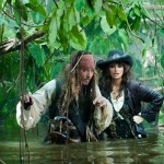 Captain Sparrow (Johnny Depp) and the enigmatic Angelica (Penelope Cruz)