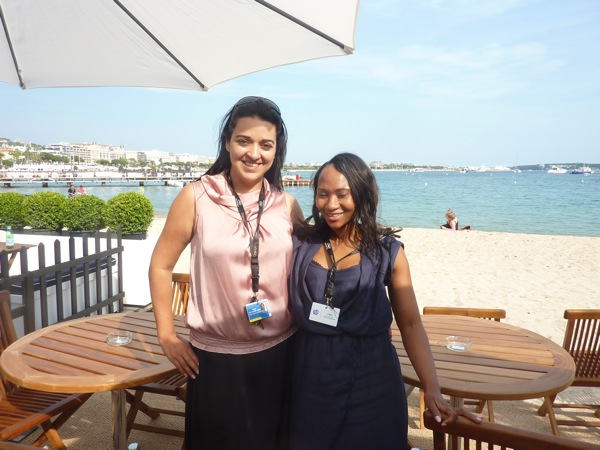 Charmaine and Naomi from the NFVF...in Cannes
