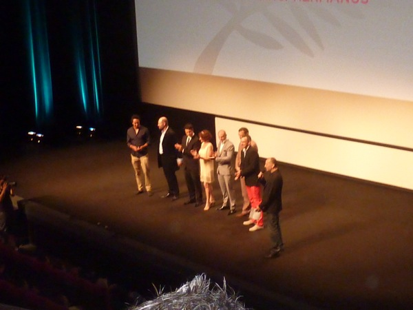 The 'Skoonheid' cast and crew before the film's screening in Cannes