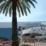 Preparations at the Palais for the Cannes Film Festival