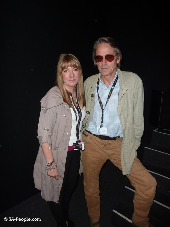 Candida Brady and Jeremy Irons at the Trashed screening in Cannes today