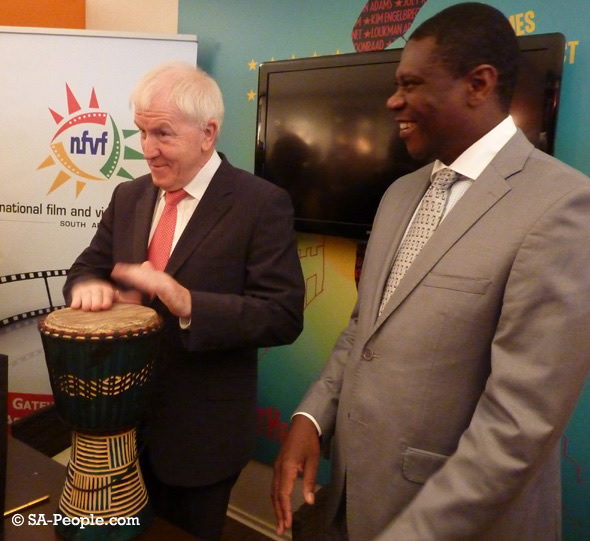Irish minister Jimmy Deenihan plays the Bongo drums!