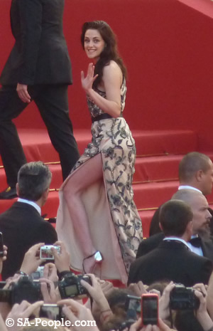 Kristen Stewart on the red carpet in Cannes 2012