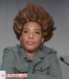 Macy Gray at today's press conference in Cannes