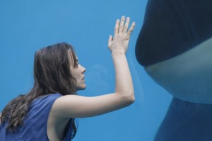 Marion Cotillard with killer whale in Rust and Bone