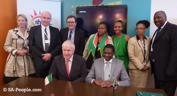 South Africa Ireland Treat Signing