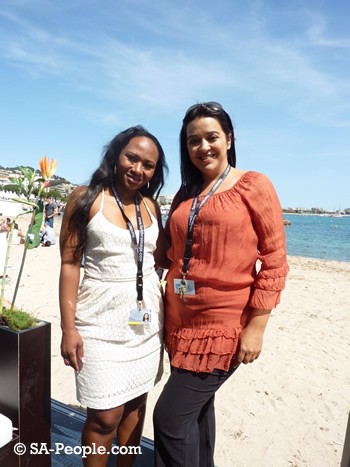 Naomi Mokhele and Carla de Gavino Dias from the NFVF, South Africa
